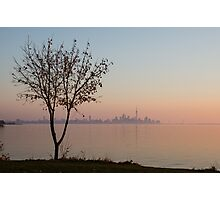 Soft, Pink Morning on the Lake Shore Photographic Print