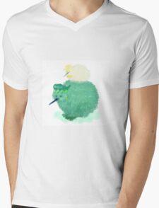 KIWIBE Mens V-Neck T-Shirt