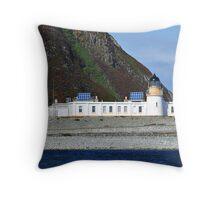 Ailsa Craig Lighthouse Scotland Throw Pillow