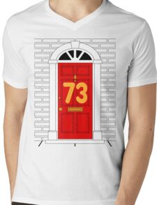 Number 73 Mens V-Neck T-Shirt