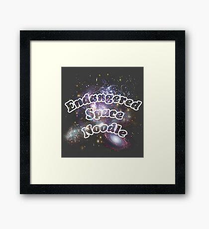 Endangered Space Noodle ( Spacel Merchandise ) Framed Print