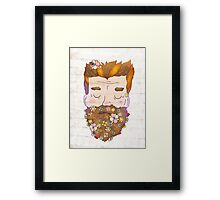Flower beard Framed Print