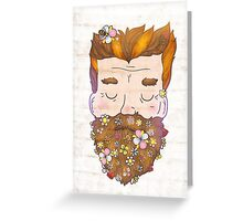 Flower beard Greeting Card