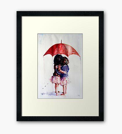 umbrella girls Framed Print