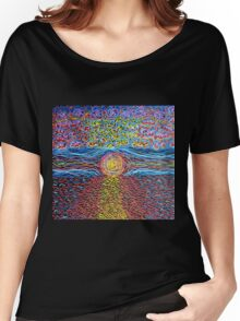 Sunset - Hand Painted Women's Relaxed Fit T-Shirt
