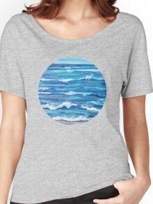 Choppy Ocean Painting Women's Relaxed Fit T-Shirt