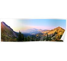 Evening Sunset view from Mt. Rainier Poster
