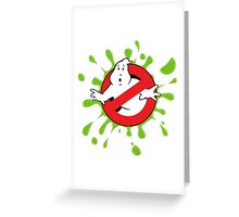Ghost Busted - Green Slime Greeting Card