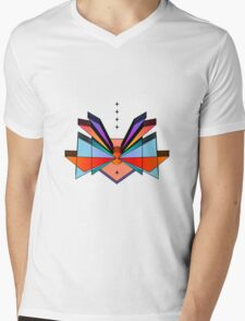 WINGED FORTRESS Mens V-Neck T-Shirt