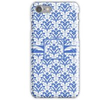 Blue and White 1930s Damask iPhone Case/Skin