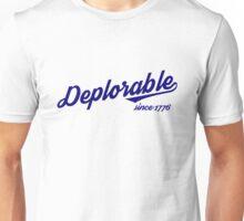 Deplorable Since 1776 (Blue Letters) Unisex T-Shirt