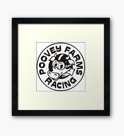 Poovey Farms Racing - Archer Framed Print