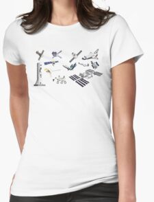 Spacecraft - Space Vehicles - The Kids' Picture Show - 8-Bit Womens Fitted T-Shirt
