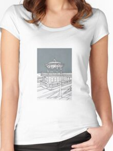 Brighton Bandstand Women's Fitted Scoop T-Shirt