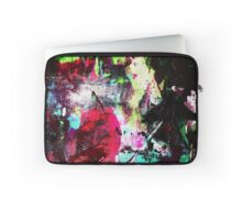 Black and Neon Abstract Laptop Sleeve