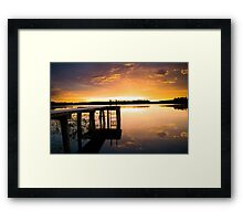 Beauty by the Dock Framed Print