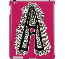 Black and white Letter A iPad Case/Skin
