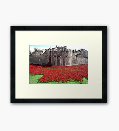 Tower of London Remembers WWI Framed Print