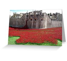 Tower of London Remembers WWI Greeting Card