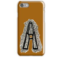 Black and white Letter A iPhone Case/Skin