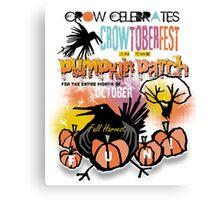 crowtoberfest harvest Canvas Print