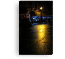 Rainy Night On Main St. Canvas Print