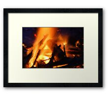 The Heat of Fire Framed Print