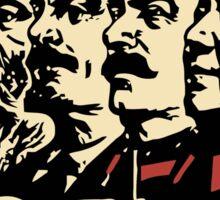 CCCP comunist leaders vintage propaganda Sticker