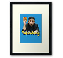 Pokejong - Kim Jong-un (North Korea) playing Pokemon Framed Print