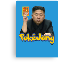 Pokejong - Kim Jong-un (North Korea) playing Pokemon Canvas Print