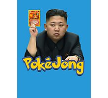 Pokejong - Kim Jong-un (North Korea) playing Pokemon Photographic Print