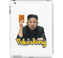 Pokejong - Kim Jong-un (North Korea) playing Pokemon iPad Case/Skin