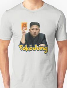Pokejong - Kim Jong-un (North Korea) playing Pokemon T-Shirt