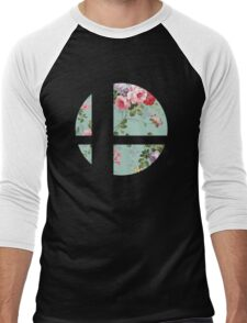 Super Smash Bros. Floral Men's Baseball ¾ T-Shirt