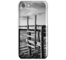 Black and White Old Time Dock iPhone Case/Skin