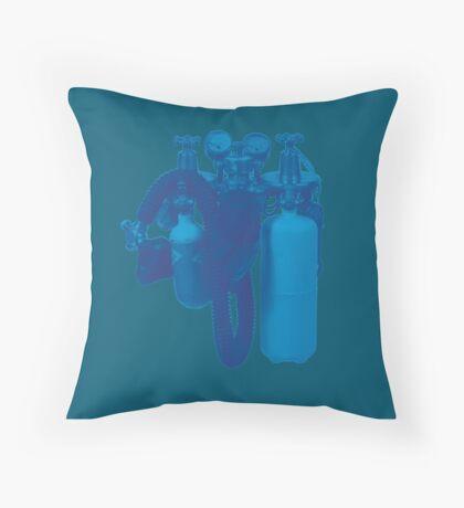 Blue Tank Throw Pillow