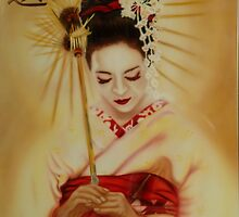 Geisha in Red by OpeningMinds