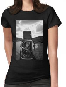 Mamiya C220 on Location. Womens Fitted T-Shirt