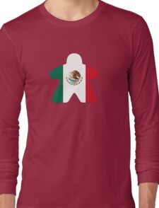 Mexican Meeple Design Long Sleeve T-Shirt