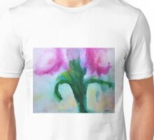 watercolor pink peony Unisex T-Shirt