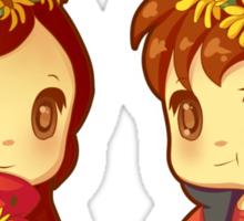 Flower Power Pines Twins Sticker