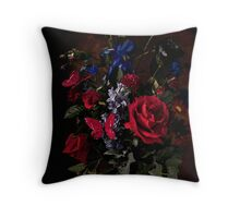 Rikard Osterlund's Flowers (Consumed by Darkness) Throw Pillow