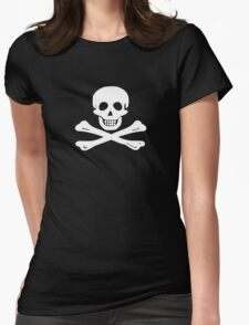 Flying Gang Pirate Flag Womens Fitted T-Shirt