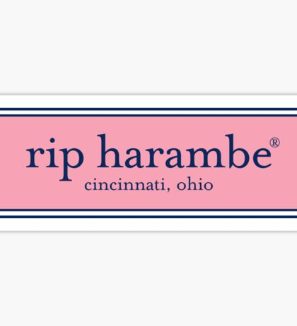 RIP Harambe Vineyard Vines Sticker