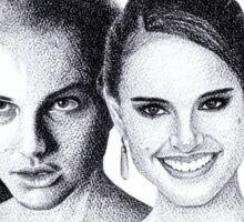 The Many Faces of Natalie Portman Sticker