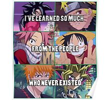 What I've learned in Animes Poster