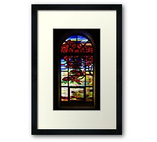 A Tale of Windows and Magical Landscapes Framed Print
