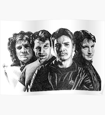 The Many Faces of Nathan Fillion Poster