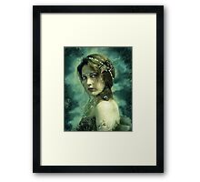 Mermaid Behind Her Mask Framed Print