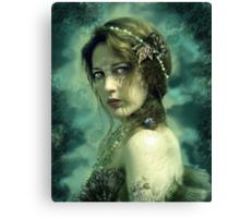 Mermaid Behind Her Mask Canvas Print